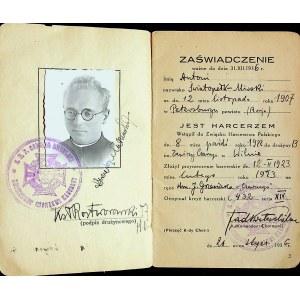 [HARCERSTWO] Książeczka służbowa Antoniego MIRSKIEGO - ŚWIATOPEŁKA [1907-1942