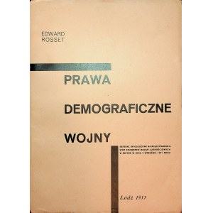 ROSSET Edward - Prawa demograficzne wojny.