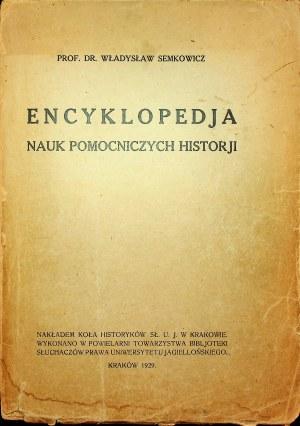 SEMKOWICZ Encyklopedja nauk pomocniczych historji Kraków 1929