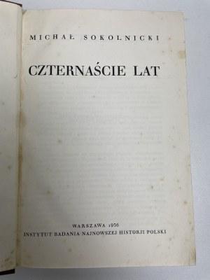 SOKOLNICKI Michał - Czternaście lat. Warszawa 1936