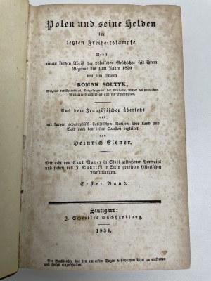 SOŁTYK Roman - Polen und seine Helden Stuttgart 1834