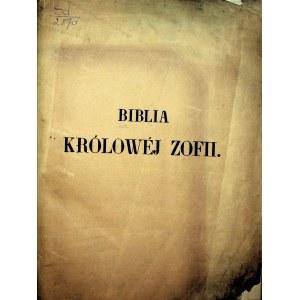 BIBLIA Królowej Zofii żony Jagiełły z Kodexu Szaroszpatackiego.