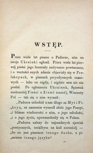 [BARAŃSKI Wiktor] Prawdziwy życiorys Tomasza Padurry. Poznań 1875