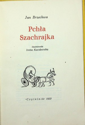 BRZECHWA Jan Pchła Szachrajka Wydanie 1 DEDYKACJA AUTORA