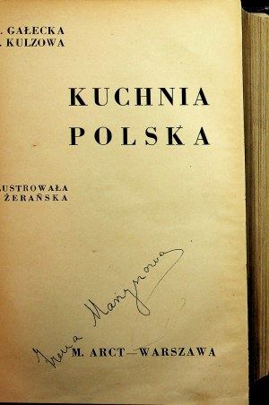 Gałecka, Kulzowa KUCHNIA POLSKA