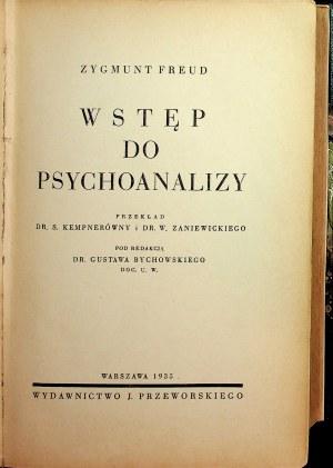Freud Zygmunt WSTĘP DO PSYCHOANALIZY Wydanie 1 z 1935