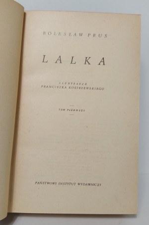 Prus Bolesław, Lalka t.I -II il.Kostrzewski