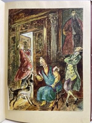 Krasicki Ignacy SATYRY Ilustracje SZANCER, Wyd.1952