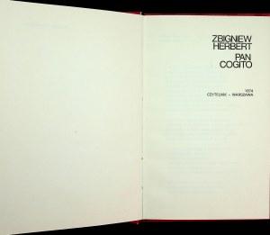 Herbert Pan Cogito Wydanie 1 PIEKNY EGZEMPLARZ