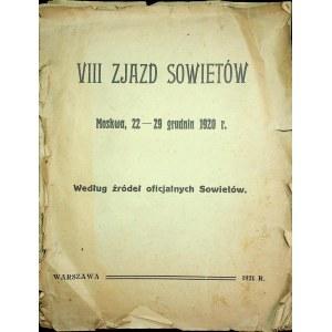 BIBLIOTECZKA WYWIADOWCZA Nr.11 - VIII ZJAZD SOWIETÓW Moskwa 22-29 XII 1920