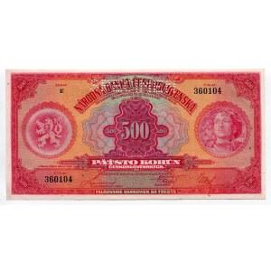 Czechoslovakia 500 Korun 1929 Specimen