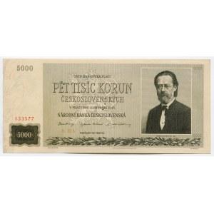 Czechoslovakia 5000 Korun 1945 Specimen