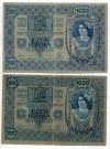 Austria 3 x 1000 Kronen 1902