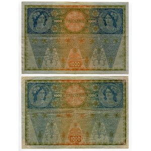 Austria 2 x 1000 Kronen 1919 (ND)