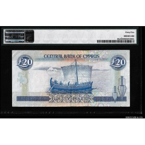 Cyprus 20 Pounds 1992 PMG 45