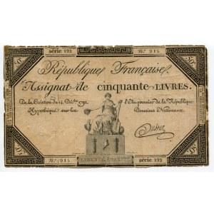 France 50 Livres 1792