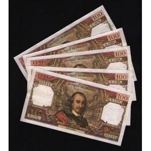 France 5 x 100 Francs 1977 - 1978