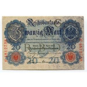 Germany - Empire 20 Mark 1910