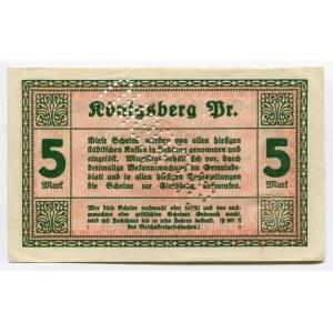 Germany - Empire East Prussia Magistrat of Konigsberg 5 Mark 1918 UNGULTIG
