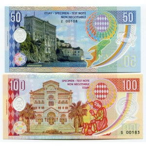 Monaco 50 & 100 Francs 2018 Specimen Grace Kelly