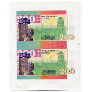 Poland 2 x 200 Zlotych 2017 Canceled Test Print with Gábriš's Signature, Rare!