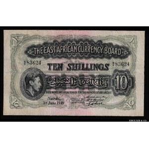 East Africa 10 Shillings 1939 Rare