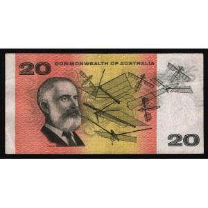 Australia 20 Dollars 1966 - 1972 Rare Early Type
