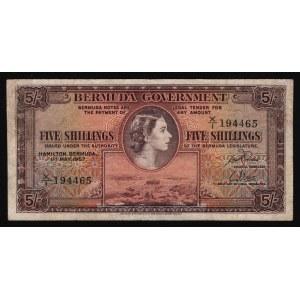 Bermuda 5 Shillings 1957