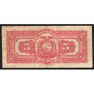 Ecuador 5 Sucres 1935