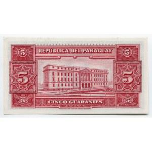 Paraguay 5 Guaraníes 1952