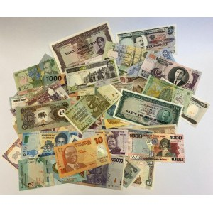 World Unsearched Lot of 100 Uncirculated Banknotes
