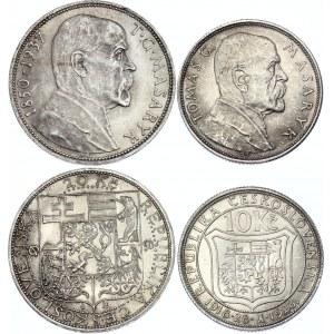 Czechoslovakia 10 & 20 Korun 1928 - 1937