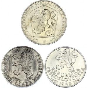 Czechoslovakia Lot of 3 Coins 1948 - 1965