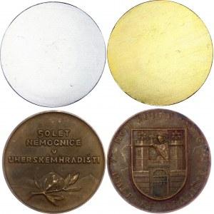 Czechoslovakia Uherské Hradiště City Lot of 4 Medals