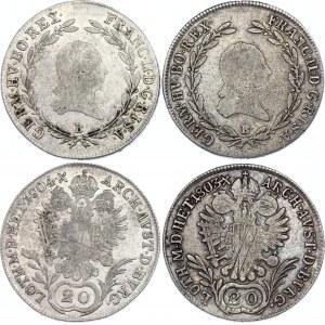 Austria 2 x 20 Kreuzer 1803 & 1804 B