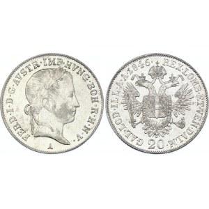 Austria 20 Kreuzer 1846 A