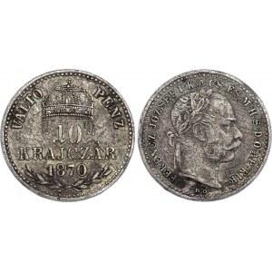 Hungary 10 Krajczar 1870 KB