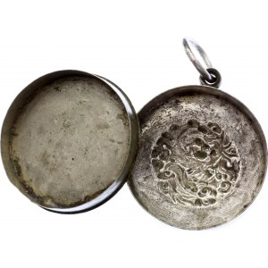 China Silver Coin Holder 19th-20th Century