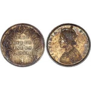 British India 1/2 Rupee 1881