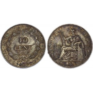 Indochina 10 Centimes 1888 A
