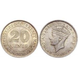Malaya 20 Cents 1939