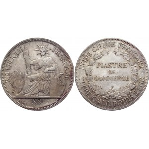 French Indo-China 1 Piastre 1921 H
