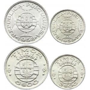 Timor 3 & 6 Escudos 1958