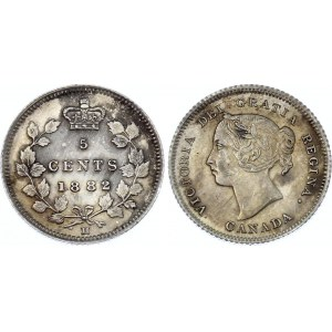 Canada 5 Cents 1882 H