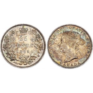 Canada 25 Cents 1888