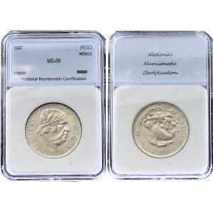 Mexico 1 Peso 1947 NNC MS 66