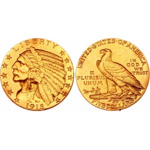 United States 5 Dollars 1915