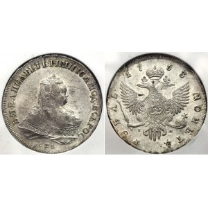 Russia 1 Rouble 1753 СПБ IM NGC UNC
