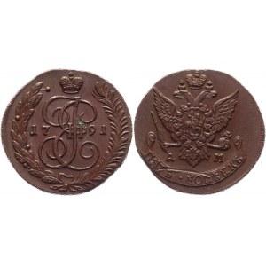 Russia 5 Kopeks 1791 AM