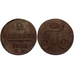 Russia 2 Kopeks 1801 ЕМ